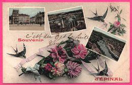 Fantaisie - Souvenir D'Epinal - Multivues - Cathédrale - Pont - Hirondelle - Fleur - Animée - Epinal