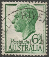 Australia. 1951-52 KGVI. 6½d Green Used. SG 250 - Used Stamps