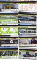 Lot De 10 Tickets Usagés Différents Du Réseau STAS Saint Etienne - Tramways