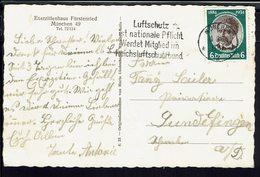"""Allemagne - 1934 - N° 500 Sur CPA Corresp. De Munchen Pour Gundelfingen - Flamme """"Luftschutz Ist Nationale Pflicht"""" B/TB - Allemagne"""