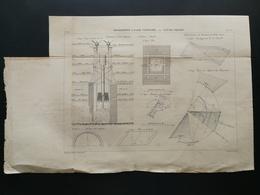 ANNALES PONTS Et CHAUSSEES - Fondations A L'air Comprimé - Graveur E.Pérot - 1883 - (CLE15) - Architecture