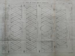 ANNALES PONTS Et CHAUSSEES (dep 24)  - Pont De Cubzac Sur La Dordogne - Macquet - 1889 - (CLE16) - Travaux Publics