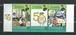 Brunei 2002 The 50th Anniversary Of Department Of Telecommunications,strip.MNH - Brunei (1984-...)
