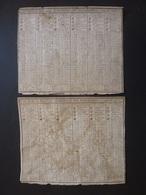 ALMANACH DES MESSAGERIES 1797 Et 1798 2 SEMESTRIELS CALENDRIER DE LA REPUBLICAIN FRANCAISE Pour La 4me Année  AVR2019 - Calendriers