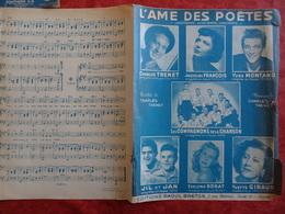 Partition Ancienne PF1949 Jacqueline François L'âme Des Poètes Montand Trenet Compagnons Dorat Giraud Jil - Spartiti