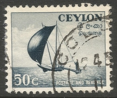 Ceylon. 1951-54 Definitives, 50c Used. SG 426 - Sri Lanka (Ceylon) (1948-...)