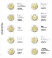 Lindner 1118-25 Vordruckblatt Für 2 Euro-Gedenkmünzen: Italien 2018 Bis Luxemburg 2018 - Supplies And Equipment
