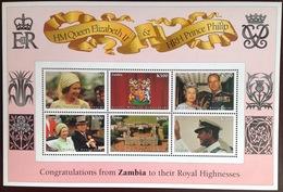 Zambia 1997 Golden Wedding Sheetlet MNH - Zambia (1965-...)