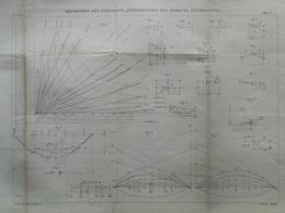 ANNALES PONTS Et CHAUSSEES  - Répartition Des Pressions - Macquet - 1889 - (CLE22) - Technical Plans
