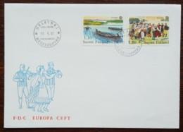 Finlande - FDC 1981 - YT N°845, 846 - EUROPA / Le Folklore - Finlande
