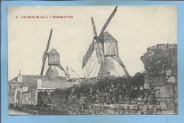 """Saumur (49) Moulins à Vent 2scans Cachet """"8e Corps D'Armée Hôpital Temporaire N°16 Bourges 10-11-1914"""" - Saumur"""