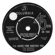 """The Seekers   """"  I'll Lever Find Another You  """" - Vinyles"""
