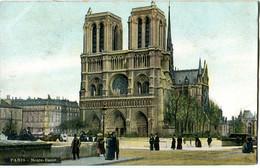 CPA 75 PARIS Cathédrale Notre Dame 1906 ( Colorisée ) - Notre Dame De Paris