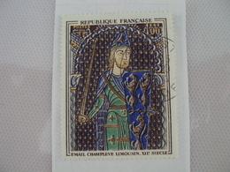 """1960-69- Timbre Oblitéré N°1424    """" Thème Grands Peintres : émail CHAMPLEVE, Limousin     """"       1 E - Oblitérés"""