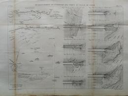 ANNALES PONTS Et CHAUSSEES - établissement Et Entretien Des Ports En Plage De Sable - Macquet - 1889 - (CLE29) - Public Works
