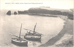 FR34 AGDE - MTIL 377 - Le Cap D'agde Et Le Télégraphe Sans Fil - Bateaux De Pêche - Animée - Belle - Agde