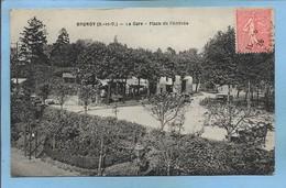 Brunoy (91) La Gare Place De L'Arrivée 2scans 1928 - Brunoy
