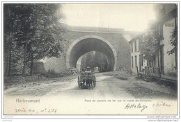 HERBEUMONT ..-- Pont Sur La Ligne BERTRIX - MUNO . Attelage De Chiens . - Herbeumont