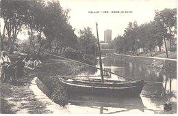 FR34 AGDE - MTIL 169 - Le Canal - Bateaux De Pêche - Animée - Belle - Agde