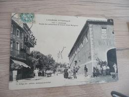 CPA 07 Ardèche Joyeuse Route De Lablachère Et Grand Hôtel Matignon TBE - Joyeuse