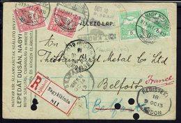 Hongrie - Guerre 1914-18 - Carte Postale De Nagykikinda En Recommandé Pour Belfort (fr) Via Belfast Et London - B/TB - - Hongrie