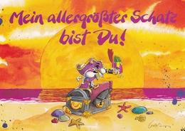 My Biggest Treasure Is You Greetings Germany Postcard Regensburg 2001 Postmark With Slogan Used Good Condition - Greetings From...