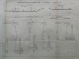 ANNALES PONTS Et CHAUSSEES (Dep 69) Releèvement Du Pont De Civors - Macquet - 1886 - (CLE32) - Travaux Publics