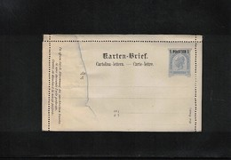 Austria / Oesterreich Austrian Post In Levante Postal Stationery Letter 1 Piaster - 1850-1918 Imperium