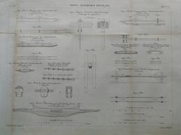 ANNALES DES PONTS Et CHAUSSEES - Ponts Suspendus Français - Gravé Par Macquet - 1886 (CLE33) - Travaux Publics