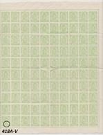 BELGIQUE - 1935 - XX - COB 418A - Feuillet De 100 Pc - Avec 418A-V Voir Scan - - Feuilles Complètes