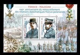 2019 BLOC FRANCE POLOGNE OBLITERE CACHET ROND 17-4-2019   #228# - Francia