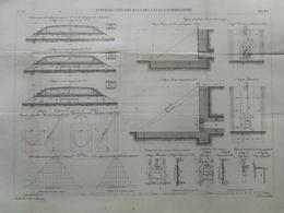 ANNALES DES PONTS Et CHAUSSEES -Plan Des Distributions Des Eaux Des Canaux D'irrigation Graveur E.Pérot 1882 (CLE36) - Travaux Publics