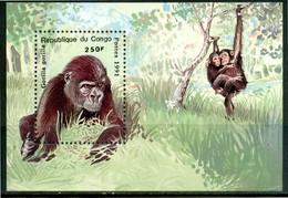 CONGO 1991** - Gorilla - Miniblock MNH, Come Da Scansione. - Gorilles