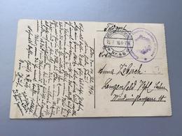 Feldpost 1.WK  1916 BAHNBEAUFTRAGTER ETAPPEN INSPEKTION  III. ARMEE - Deutschland