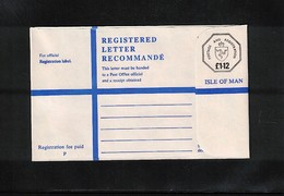 Isle Of Man Interesting Postal Stationery Registered Letter Unused - Man (Insel)