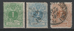 BELGIQUE - 1869-83 - Obl. - COB 26-28 - - 1866-1867 Blasón