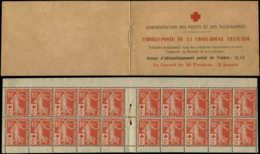 FRANCE Carnets * - 147-C1, Carnet De 20 Croix Rouge 1914, (adhérences Et Sans L'agrafe), Certificat Photo Behr, Signé Ca - Usage Courant