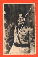 Mussolini Benito Duce Cartolina Anni '40 Su Carta Gevaert - Personaggi