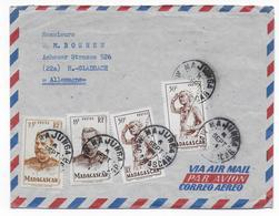 1954 - MADAGASCAR - ENVELOPPE Par AVION De MAJUNGA  => MÜNCHENGLADBACH (ALLEMAGNE) - Madagascar (1889-1960)