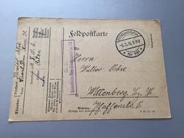 Feldpost 1.WK  1916 EISENBAHN-BAU-KOMPAGNIE No 34 Abs. MED 6 Osten - Covers & Documents