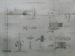 ANNALES DES PONTS Et CHAUSSEES (Dep 25) - Moulinet Intégrateur électronique - Graveur E.Pérot 1883 (CLE41) - Public Works