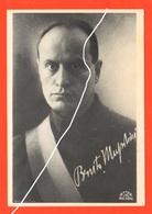 Mussolini Benito Duce Cartolina Anni 50 - Personaggi