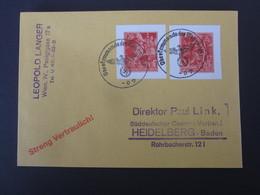 Dt. Reich Nr. 909 / 910 Auf Brief , Gestempelt , NACHDRUCK - Briefe U. Dokumente