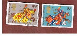 GRAN BRETAGNA (UNITED KINGDOM) -  SG 958.961 -  1974 MEDIEVAL WARRIORS   - USED° - Usati