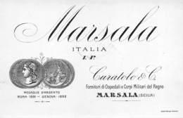"""D9249 """"MARSALA - CURATOLO E C. (ITALIA - I.P. SICILIA)"""".  ETICHETTA ORIGINALE. - Etichette"""