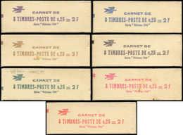 """FRANCE Carnets ** - 1331-C5A, Série Complète Des 7 Couleurs Du Carnet """"Philatec"""": 25c Coq - Cote: 340 - Markenheftchen"""