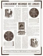 """PUB PATHEGRAPHES   """" PATHE Fréres """"  1913 - Technical"""