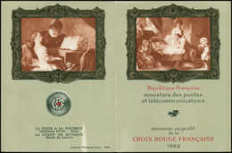 FRANCE Carnets Croix Rouge ** - 2011a, 2° Tirage, Couleurs Changées, Année 1962 - Cote: 925 - Postzegelboekjes