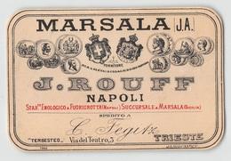 """D9249 """"MARSALA (J.A.)  - J. ROUFF - NAPOLI"""".  ETICHETTA ORIGINALE. - Etichette"""