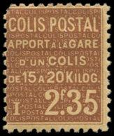 FRANCE Colis Postaux * - 97, Signé Scheller: 2f35 Brun Clair Sur Jaune, (une Dent Manquante) - Cote: 2000 - Mint/Hinged